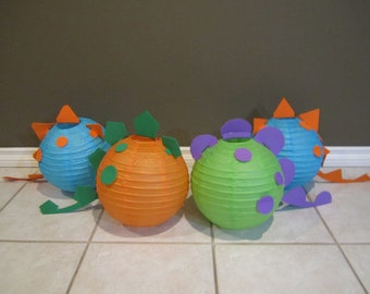 Dinosaur Paper Lantern Decoration Kit - Pick Your Colors