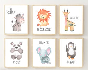 safari nursery art etsy