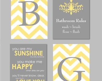 Super Yellow Bathroom Art Etsy Interior Design Ideas Jittwwsoteloinfo