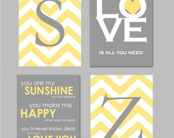 Kids Bathroom Art, Bathroom Wall Decor, Kids Bathroom Prints, Bathroom Wall  Art, Yellow And Grey Bathroom,Gray Bathroom, You Are My Sunshine