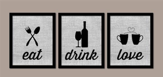 Cucina parete arte, Oggettistica per la cucina, cucina moderna arte,  mangiare bere amore, cucina moderna arte, Oggettistica per la casa  colonica, ...