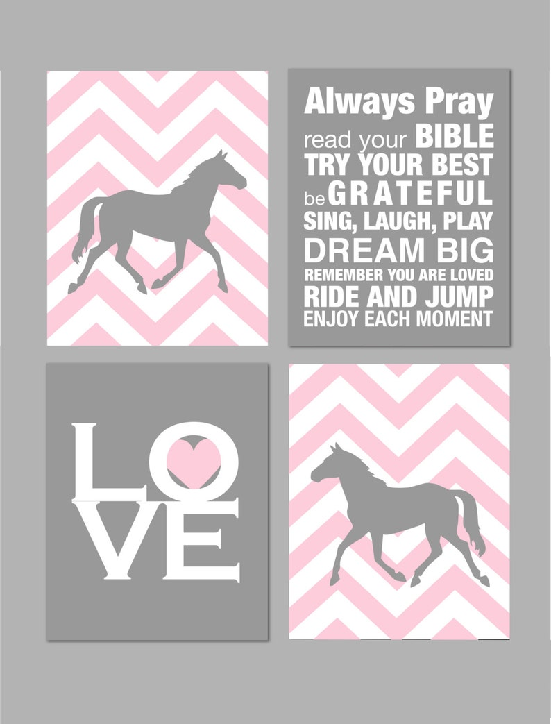 Horse Room Decor Girls Room Horse Nursery Art Girl Room Decor Etsy