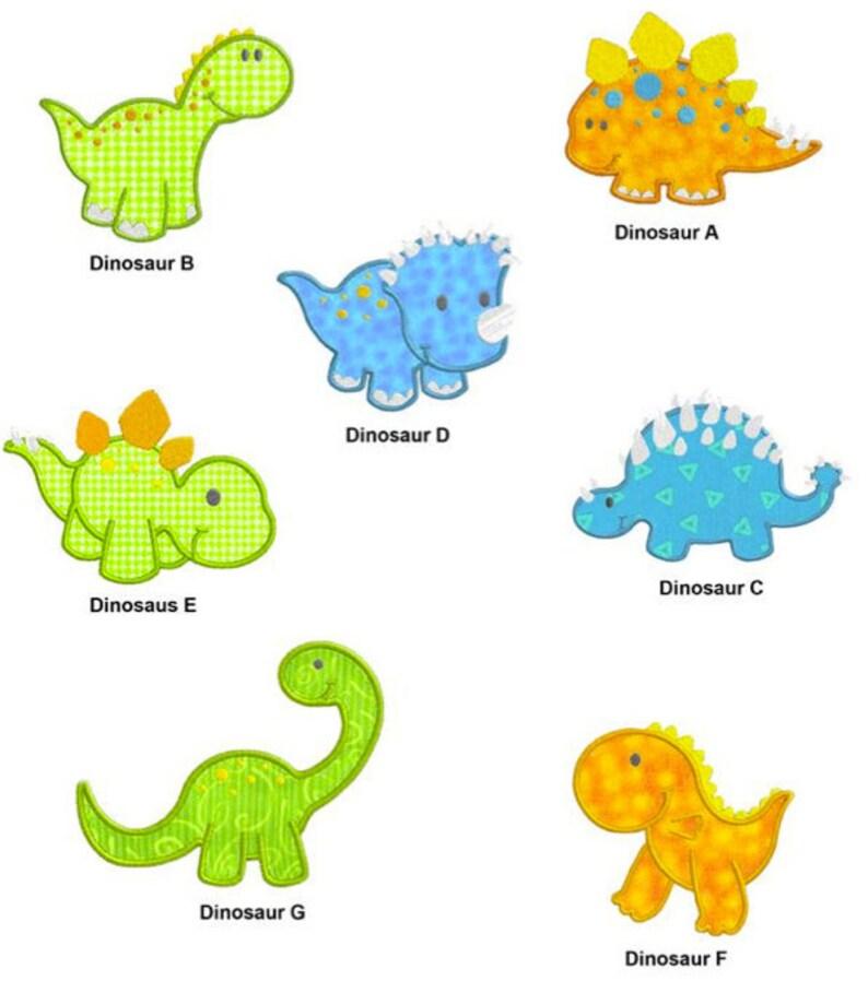 Dinosaur APPLIQUE Machine Embroidery Designs