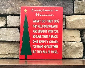 Christmas sign-Christmas in Heaven