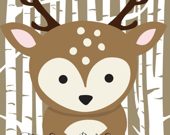 Woodland Animal Nursery Prints (8x10)