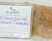 All Natural Lavender Oatmeal with Goat Milk Cold Process Soap Bar
