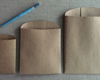 25 Kraft Bags - Gift Bags-three sizes - heavyweight brown Kraft- Grocery Bag