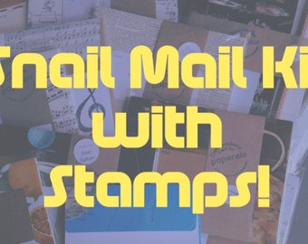 Snail Mail Kit with Stamps - Stationery Set - Stationery Gift Set