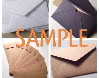 Your Choice! Sample Envelope or Cardstock - any size envelope or card stock