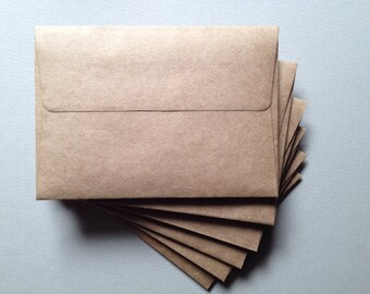 "25 Kraft Envelopes - Size A1 (4 Bar 3 5/8"" x 5 1/8"") Recycled Kraft - Grocery Bag Envelopes"