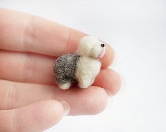 Miniature old english sheepdog