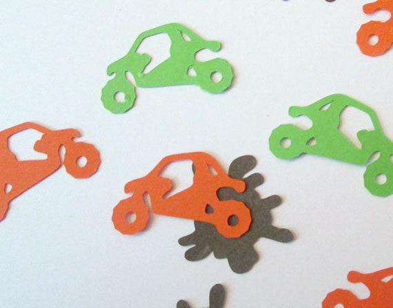 Card Making Mudding Extreme Sports 4-Wheeler ATV UTV Off Road 4x4 SxS Confetti Quad Table Sprinkles Birthday Party Decor Scrapbook