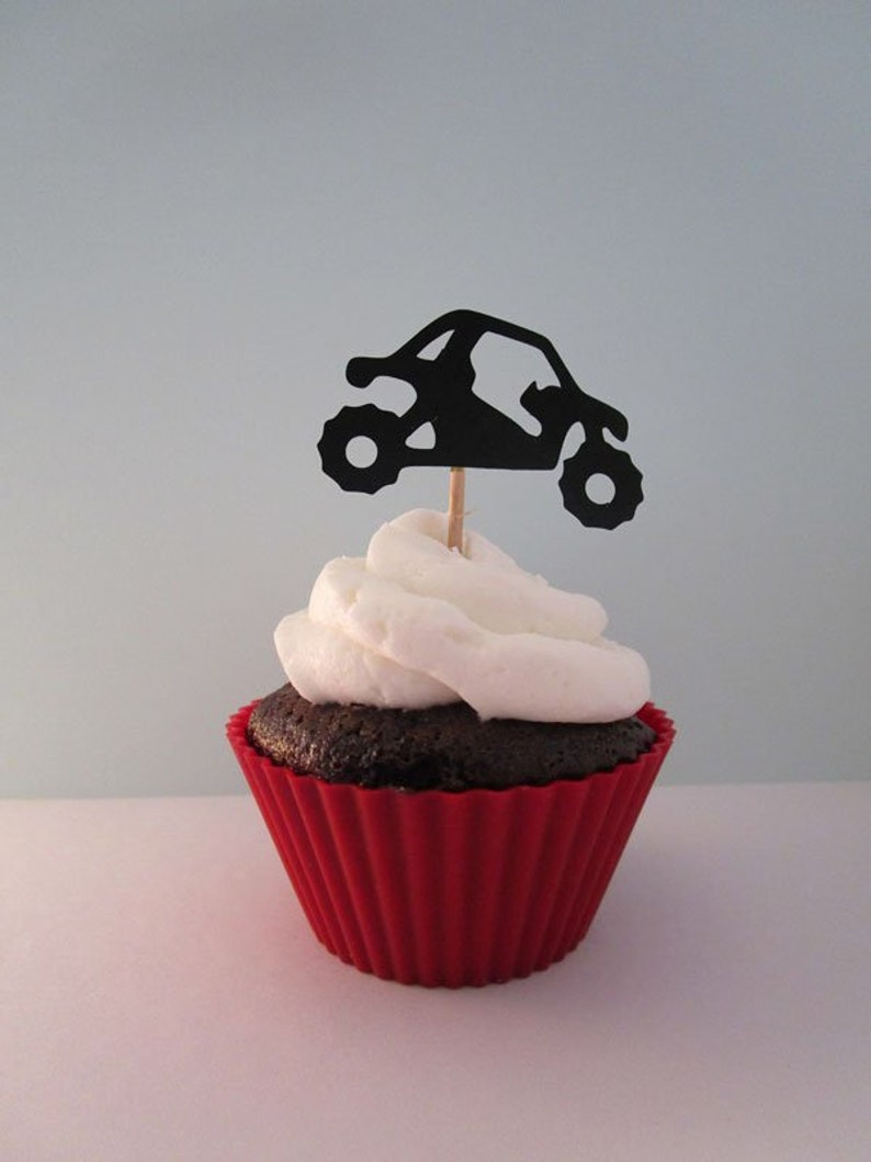 Off Road SxS Cupcake Topper UTV 4 Wheeler Quad Die Cuts