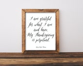Items Similar To Thanksgiving Art Print Henry David Thoreau Quote