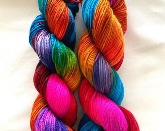 Super wash Merino Cashmere Nylon (MCN) Yarn Hand Dyed (ANE02)