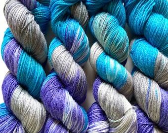 Super wash Merino Bamboo Nylon Yarn Hand Dyed (APA35)