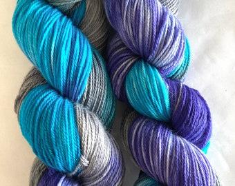 Super wash Merino Cashmere Nylon (MCN) Yarn Hand Dyed (ANE35)