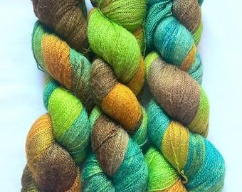 Merino, Silk, Hand Dyed Yarn (WBSL30)