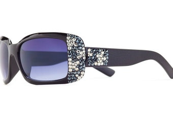 0b47037a527 Exotic Splash Designer Sunglasses With Brown Shades And Leopard Patterned  Swarovski Crystals