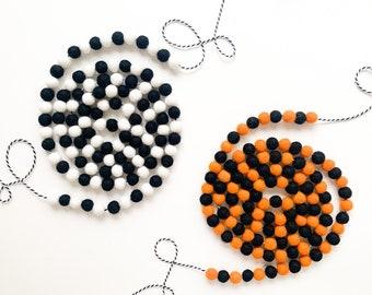 Halloween Multi Colored Mini Felt Ball Garlands - Bunting, Banner