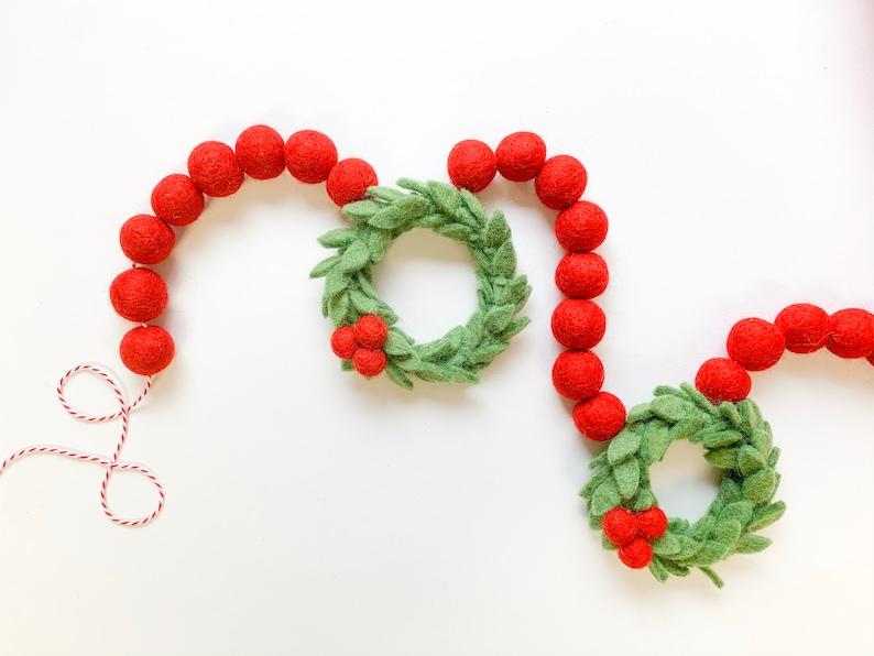 Pre-Order Berry Merry Wreath Felt Garland Bunting image 0