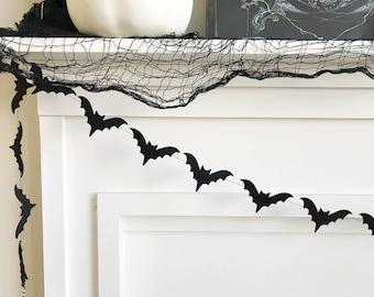 Mini Bat Felt Banner, Bunting, Garland, Photo Prop, Decoration