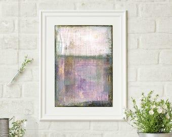 "Abstract Print, Mixed Media Art Print, Abstract Art, Fine Art Print, Contemporary Art Print, 8""x10"" or 11""x14"" purple print, ""Provence"""