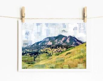 "Mountain Print Boulder Colorado Art Mountain Landscape 5x7 up to 24x36 ""Boulder and Beyond"""