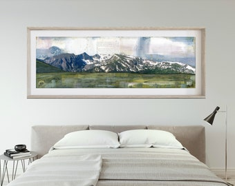 "RMNP Print Mountain Panoramic Print Mountain Art Rocky Mountain National Park Poster 6x18 up to 24x72 ""The Divide"""