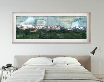 "RMNP Print Mountain Panoramic Print Mountain Art Rocky Mountain National Park Poster 6x18 up to 24x72 ""Camp Eloise"""