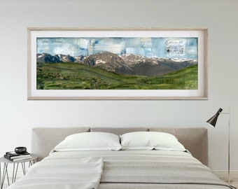 """RMNP Print Mountain Panoramic Print Mountain Art Rocky Mountain National Park Poster 6x18 up to 24x72 """"Pack Trips & Trail Rides"""""""