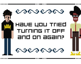 IT Crowd - Roy and Moss - PDF Cross-stitch pattern - Instant Download!