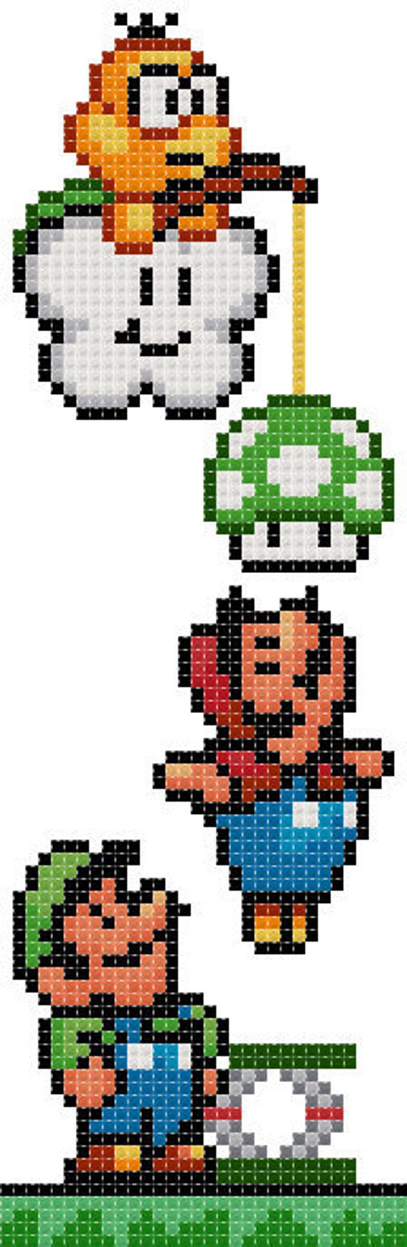 Super Mario 2  PDF Cross-stitch pattern  Instant Download image 0