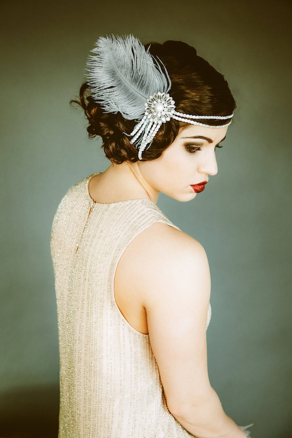 Flapper Headpiece Vintage Inspired Bridal Headband The  aeaccaf520a