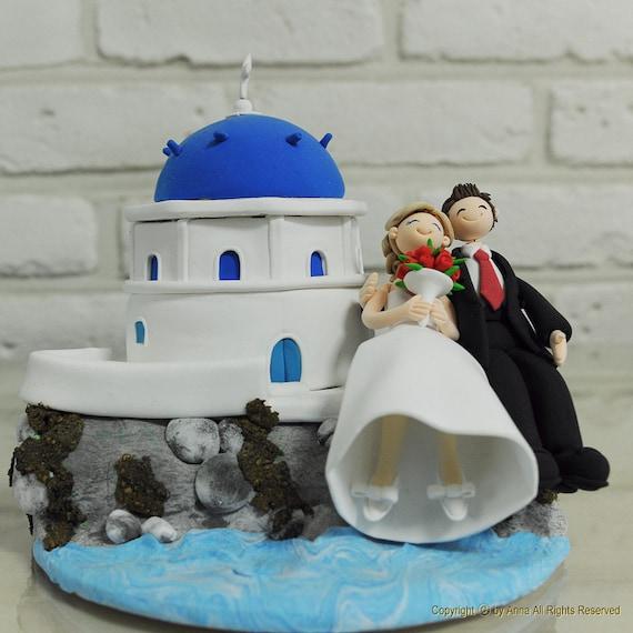 Italien Santorini Benutzerdefinierte Hochzeitstorte Topper Etsy