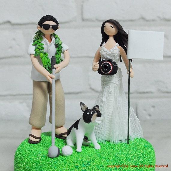 Outdoor Golf Theme Custom Wedding Cake Topper Etsy