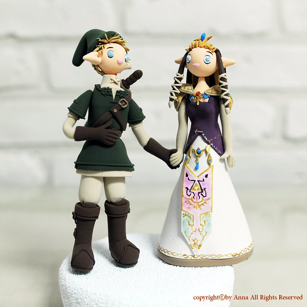 Custom Cake Topper Link and Princess Zelda from The Legend ...