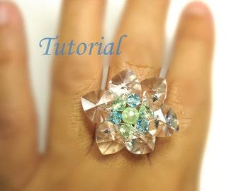 Beading Tutorial - Beaded Flower Of Hearts Ring