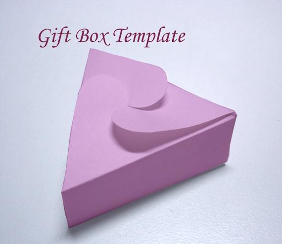 Template Printable Triangular Jewelry Gift Box Etsy
