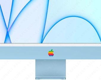 Retro Apple Sticker Decal for Apple iMac M1 2021