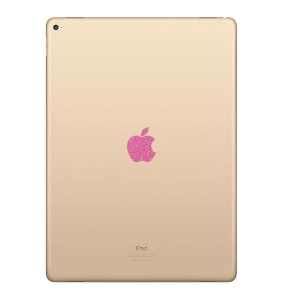 Apple Ipad Pro 10 5 Sparkling Pink Logo Overlay Etsy