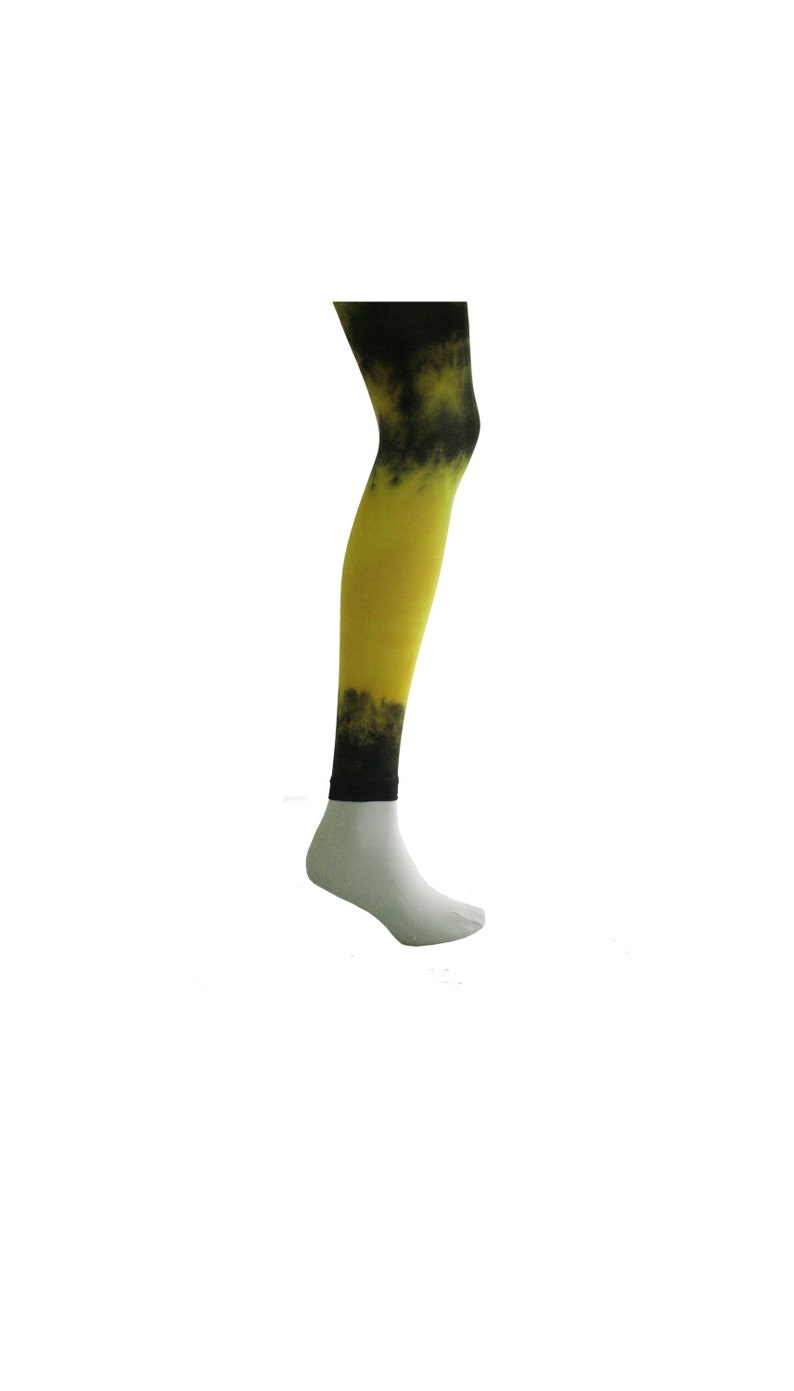 f0c4719c2 FOOTLESS Hand Dyed Tights YELLOW Unique and Colourful. Tie