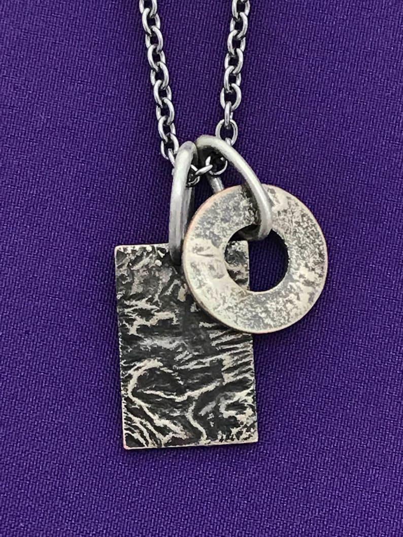 Layered Pendant  Necklace  Geometric Jewelry  Small Casual image 0
