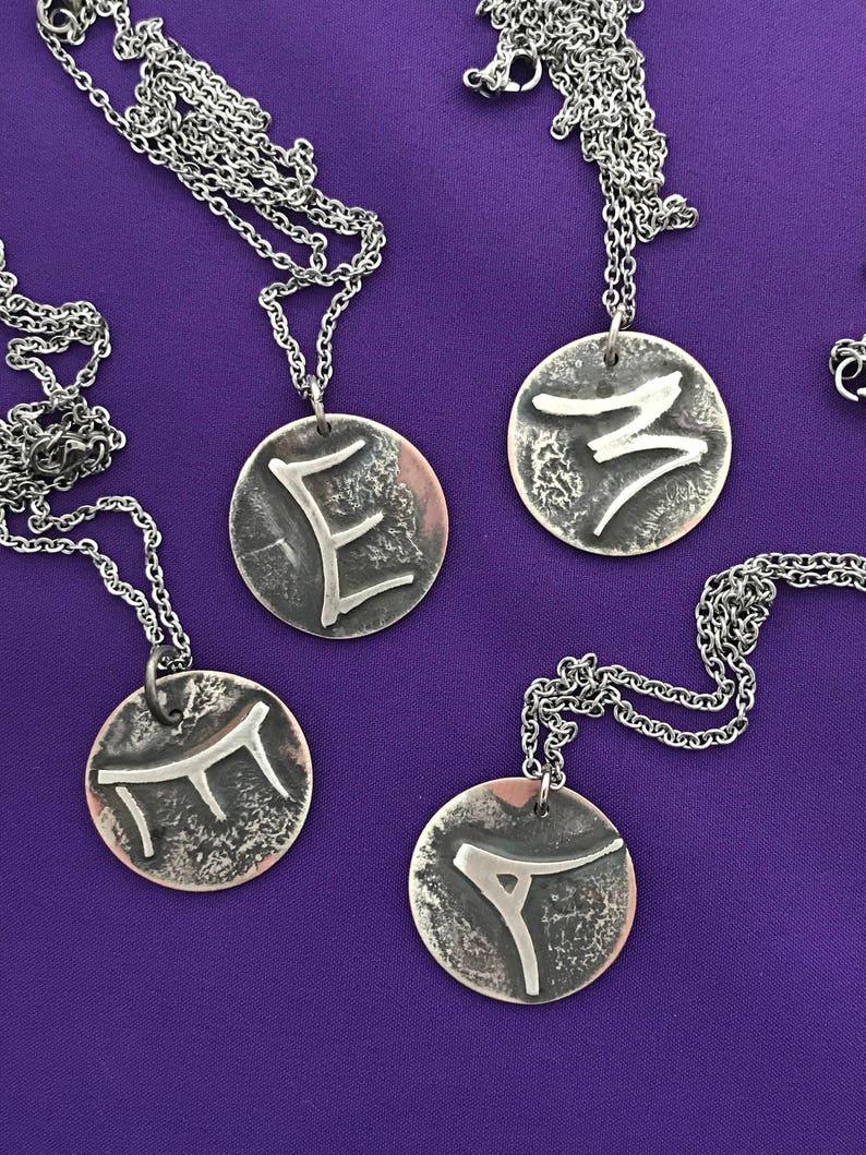 Initials Pendant Necklace  Handmade Custom Letter Pendant  image 0