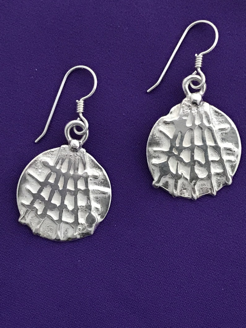 Round Spider Web Earrings  Dangle Spider Web Earrings  image 0