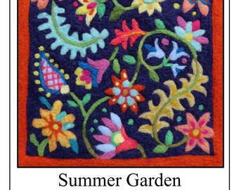 Needle Felt Kit Garden Floral Tapestry DIY Craft Beginners Welcome! Made in Vermont
