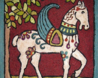 Byzantine Horse Tapestry Needle Felting Kit