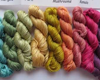 Naturally Dyed Cotton Embroidery Thread 6 Strand  by Robin Russo Vermont H
