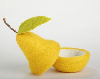 Tutorial: Needle Felted Pear Bowl