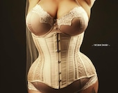 Blush sheer lace Bellecurve waist training Corset
